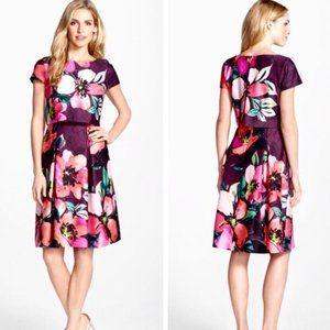 Vince Camuto Purple Floral Dress Size 10
